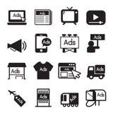 Faites de la publicité l'ensemble d'icône Image libre de droits