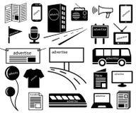Faites de la publicité l'icône de media de canaux illustration stock