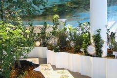 Faites du jardinage au pavillon italien à l'expo 2015 en Milan Italy Image stock