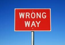 Faites du tort le signe de voie photos libres de droits