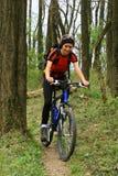 Faites du vélo dans la forêt Photos stock
