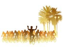 Faites du vélo le chemin illustration libre de droits