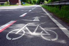 Faites du vélo le chemin Images stock