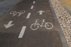 Faites du vélo le chemin Photo libre de droits