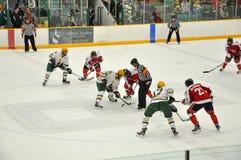 Faites face hors fonction dans le jeu de hockey sur glace Image libre de droits