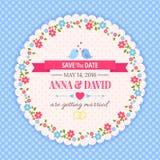 Faites gagner la date, épousant la carte d'invitation Image stock