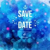 Faites gagner la date pour des vacances personnelles. Invitation de mariage. Photographie stock libre de droits