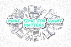 Faites l'heure pour quels sujets - concept d'affaires illustration stock