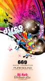 Faites la fête l'insecte de club pour l'événement de musique avec l'explosion de couleurs Photographie stock libre de droits