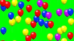 Faites la fête les ballons a produit de l'écran vert visuel de boucle sans couture