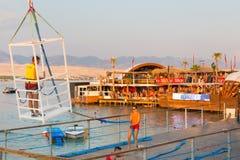 Faites la fête sur la plage de Zrce, Novalja, île de PAG, Croatie Image stock