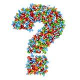 Faites la question abstraite des pilules Photos libres de droits