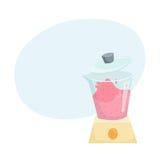 Faites le smoothie dans le mélangeur Images stock