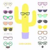 Faites-le vous-même cactus en verres Photos stock