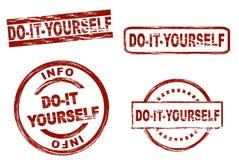 Faites-le vous-même ensemble de timbre d'encre Image libre de droits
