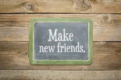 Faites les nouveaux amis Images libres de droits