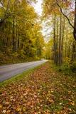 Faites-lui votre chemin à n'importe quelle destination dans la montagne de Ridge Parkway bleu photographie stock libre de droits