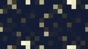 Faites signe à fond abstrait les pixels colorés clignotant et commutez Rougeoyer de fond d'animation des tuiles de mosaïque démén illustration stock