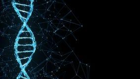 Faites signe à fond Digital la boucle binaire du texte d'attente 4k de molécule d'ADN de plexus illustration libre de droits