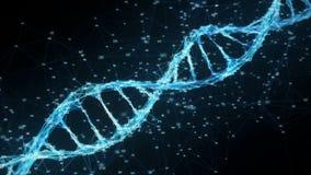Faites signe à fond la molécule numérique d'ADN de plexus boucle aléatoire de chiffres illustration libre de droits
