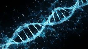 Faites signe à fond la molécule numérique d'ADN de plexus de polygone boucle aléatoire de chiffres illustration stock