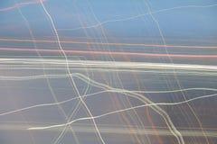 Faites signe la ligne brouillée ciel à l'arrière-plan de tache floue de nature d'abrégé sur coucher du soleil Images stock
