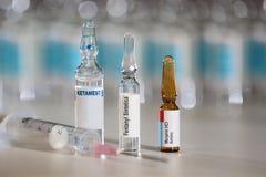 Faites souffrir les médicaments de gestion qui peuvent mener pour maltraiter et prendre une overdose Photo libre de droits