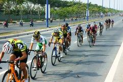Faites un cycle la course, activité de sport de l'Asie, cavalier vietnamien Image libre de droits