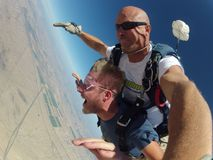 Faites un saut en chute libre AZ Photographie stock libre de droits