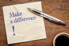 Faites un texte de différence sur la serviette Image stock