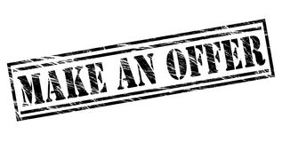 Faites un timbre de noir d'offre Photo libre de droits