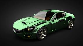 faites une boucle le châssis de voiture avec le moteur de sportcar brandless de luxe illustration de vecteur