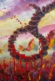 Faites une boucle pour les morts dans le sang rouge, crainte, exécution, la mort Peinture à l'huile originale, contemporaine illustration libre de droits