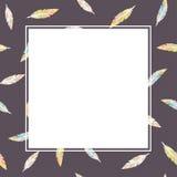 Faites varier le pas du modèle sur le fond foncé avec le cadre blanc de l'espace des textes - illustration simple de style plat Images libres de droits