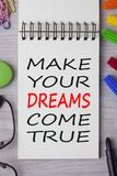 Faites vos rêves venir vrai images libres de droits