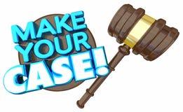 Faites votre discussion d'argument de procès de cour de cas illustration libre de droits