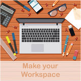 Faites votre espace de travail banner3 Illustration de Vecteur