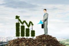 Faites votre revenu se développer Media mélangé Images stock