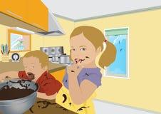 Faites-vous cuire au four un gâteau Image stock