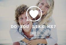 Faites-vous m'aiment concept de Valentine Romance Love Toast Dating photos stock