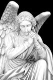 Faith. Cemetery angel with hands clasped Royalty Free Stock Images