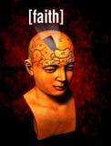 Faith. A psychology model highlighting the faith area of the brain Royalty Free Stock Image