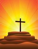 Faith. A single cross on a hill Stock Photos