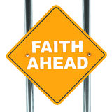 Faith ahead Stock Image