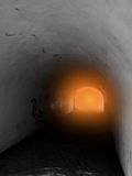 Faith. Analogie light at the end of tunnel Heaven gate Royalty Free Stock Photos