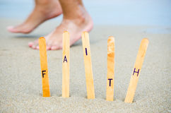 Faith in the beach. Royalty Free Stock Photos