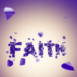 Faith is broken abstract composition background Stock Photo