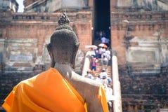 Faith in Buddha. Temple In Phra Na Khon Sri Ayutthaya Thailand Royalty Free Stock Images