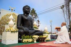 The faith of Buddha royalty free stock photos