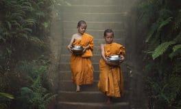 Faith of buddhism stock image